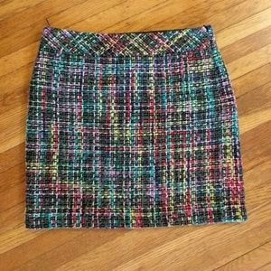 LOFT • Multicolor Plaid Shift Skirt